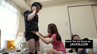 asian milf gets drunk for a threesome hd. jav