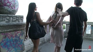 Sandra Romain Is Back In Action Dominating An Unsuspecting British Sub - PublicDisgrace