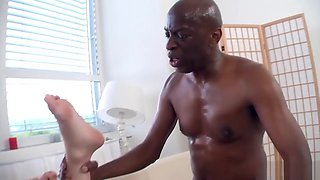 Hubby Watches While Black Man Fucks