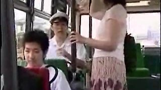 Asian prostitute gets fucked  in bus