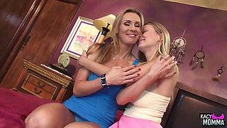 Busty stepmom seduced by pussylicking teen