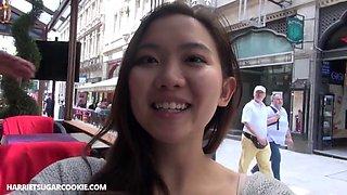 Stunning Tina Kay has fun with petite asian teen