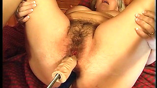 Hungarian Granny pounded hard by a fucking machine