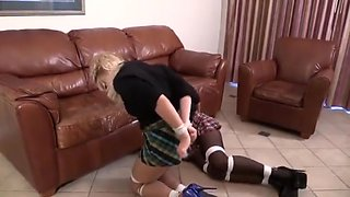 Bimbo Babysitters Bound and Ballgagged