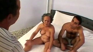 Old Grandma Having Sex With Husband And Young Lover