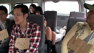 Hotties Jerk Off A Bus Full Of Virgins