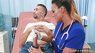 Cute Nurse Aubrey banged balls deep in her muff
