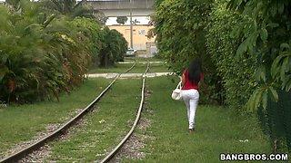 Latina Getting On The Bang Bus