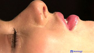 Two lesbians show each other some passionate love