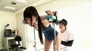 Horny Japanese chick in Crazy Teens, Gym JAV scene