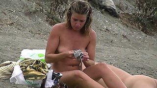 Perfect busty tits nude beach voyeur completely naked