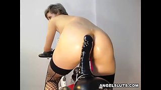 Spreading porn vid of horny amateur fit