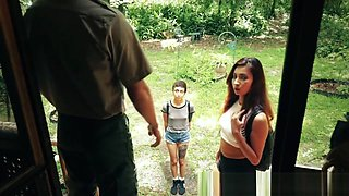 Petite 18yo hardfucked in cabin in the woods