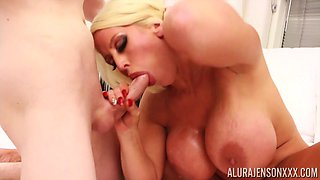 Magnificent cock sucking performed by luscious busty Alura Jenson