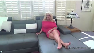 Busty blonde MILF in POV