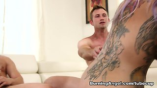 Exotic pornstars Seth Gamble, Joanna Angel, Bill Bailey in Fabulous Big Tits, Threesomes sex clip