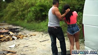 Teen dp swallow Car problems in the middle of nowhere in Flo