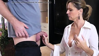 Horny dad fucked big boobs young maid hard