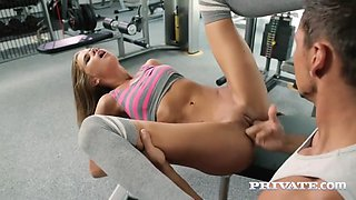 rubia sarah kay is buggered in the gym