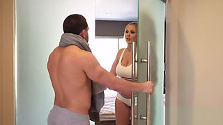 Step mom and step son fuck in shower