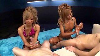 Fabulous Japanese slut Riku Hinano in Horny Small Tits, Bikini JAV clip