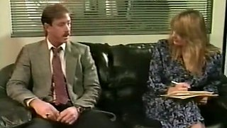 Insatiable and filthy blondie in the office fucked and facialized