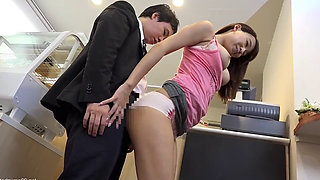 Japanese girl fucked at a Cafe