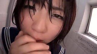 (MGQ-005) Japanese schoolgirl urinal slut