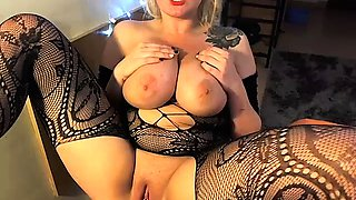 Huge boobs Abigail perverse nylon fetish