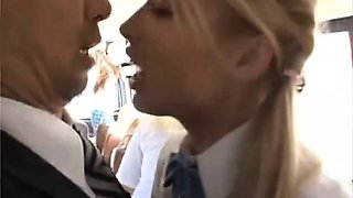 Girl give BBJ & got fucked to multiple orgasm on bus