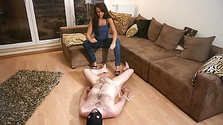 Female domination Facesitting CBT and spitting