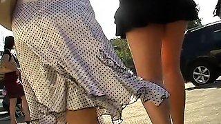 Upskirt No Panties pussy ass upskirt spy cam voyeur
