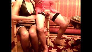 Mature wife & her Crossdresser 1 (Homemade)