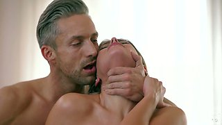 All oiled busty Vittoria Dolce is happy to treat her stud with titjob