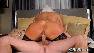 Milf Mistress Uses Slave's Big Dick