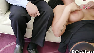 Shameless Wife Makes Hubby Watch