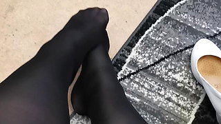 Pantyhose in the morning