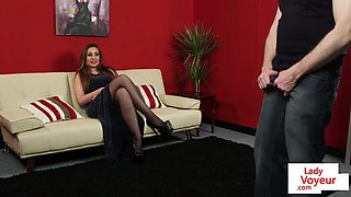 english voyeur instructs sub in cfnm session