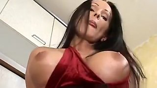 Big breasted housewife Diana indulges in a wild affair in the kitchen