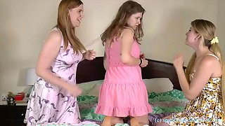 Sister spanked and diapered