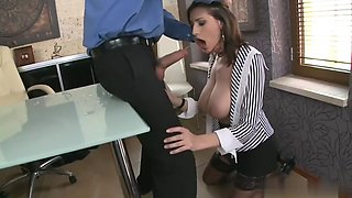 sexy new secretary has massive tits