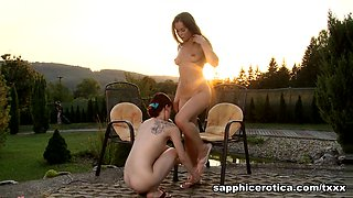 Leila & Mya in Outdoor Passion - SapphicErotica