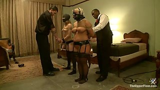 sex slaves gagged & tied up