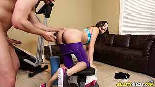 Ashley Adams attacked by her lover for a kinky quick fuck