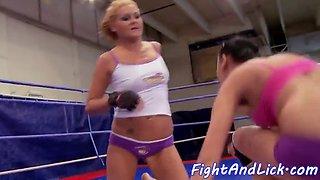 bigbooty euro lesbo fingered after wrestling