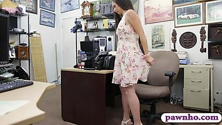 Ex dominatrix fucked by horny pawn dude in the office