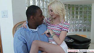 Slim blonde angel Piper Perri banged hard with bbc