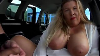German bbw milf fucked in the back of car