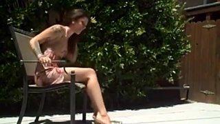 Lesbian slave eat on mistress feet