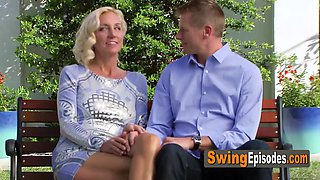 Swinger couple is ready and eager to get their party started